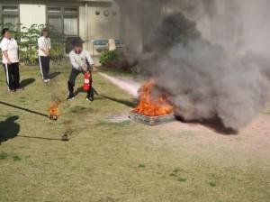 消火開始の図