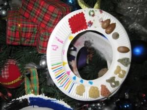 クリスマスのマカロニ付きの力作