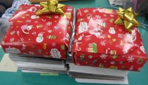 お返しのプレゼントそれぞれの自治会からです。