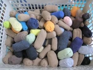 手縫いで作られた豆たち