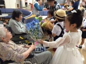ロザリオ幼稚園お花プレゼント
