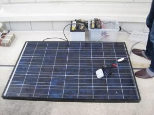 夢創造の会の防災準備のご提案その1ソーラーバッテリー