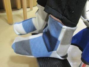 ミシンボランティアさんの力作浮腫用靴下