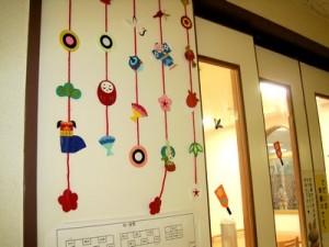 お正月飾り壁面制作