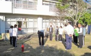 定期の消防訓練です