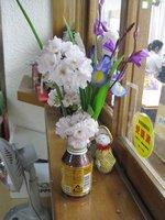 デカ○タのアルミ缶に園庭のお花が