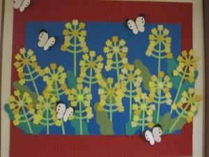 5月は菜の花にモンシロチョウ