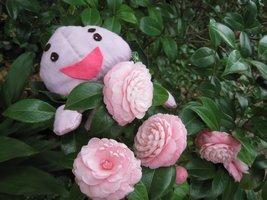 ピーチ君もご利用者様とともに一日も早い復興をお祈りいたします がんばろう熊本!