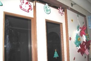 大食堂のクリスマスかざり