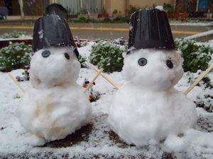 入所 雪だるま