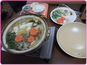 新年会食事1