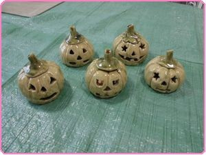 陶芸8月ハロウィンかぼちゃ
