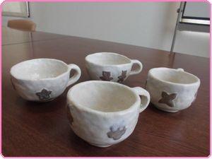 6月陶芸コーヒーカップ